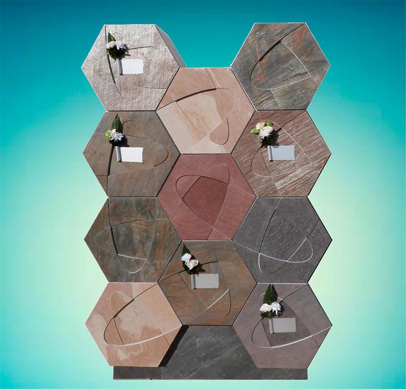 columbarios hexagonales prefabricados